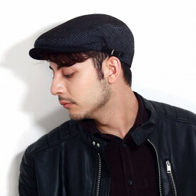KNOX ハンチング パッチワーク サイズ調節可能 コーデュロイ ハンチング 紳士 アイビーキャップ 黒 パッチワーク メンズ サイドベルト ヘリンボーン 帽子 ツイード ブラック[ ivy cap ]クリスマス ギフト 誕生日 プレゼント 男性 帽子通販