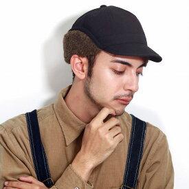 フライトキャップ メンズ ボア アルパカ レディース 帽子 ファクトリーメイド 防寒 黒 保温 キャップ 冬ギア 黒 ブラック [ flying cap ] 父の日 ギフト カジュアル 上質 コーデュロイ キャップ プレゼント 帽子