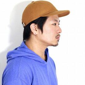 帽子 メンズ キャップ メンズ コットンツイル 日本製 CAP キャップ レディース ラカル 8パネルキャップ racal キャップ ナチュラル サイズ調節可能 スタンダード 牛革 / キャメル[ cap ]