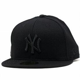 NEWERA 定番型 キャップ 59FIFTY スウェット ニューエラ スウェットキャップ 5950 スウェット生地 ニューヨークヤンキース 黒 ブラック [ baseball cap ] クリスマス ギフト ラッピング 無料