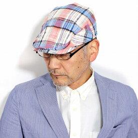 大きいサイズ ハンチング ゆったり 涼しい チェック柄 stetson ハンチング帽 夏 メンズ 通気性 帽子 コットン ハンチング ステットソン 春 紳士 おしゃれ 誕生日 ギフトラッピング 帽子 チェック柄 赤 ハンチング オレンジ[ ivy cap ]