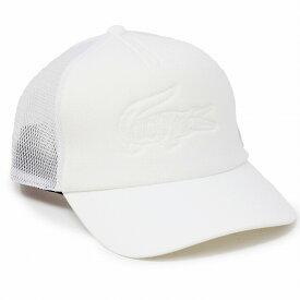 LACOSTE メッシュ キャップ メンズ 帽子 ラコステ レディース メッシュ 夏 帽子 鹿の子 キャップ ホワイト 帽子 涼しい LACOSTE キャップ アウトドア キャンプ ギアキャップ 白 [ baseball cap ] 父の日 ギフト