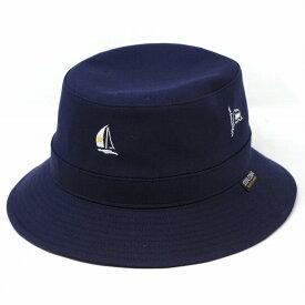 メンズ サハリハット シナコバ ハット ミニロゴ 春夏 帽子 SINACOVA マリン サファリハット 紳士 綿100 コットン シナコバ ブランド 帽子 上品なマリンサファリハット 紺 ネイビー [ bucket hat ] 父の日 ギフト プレゼント