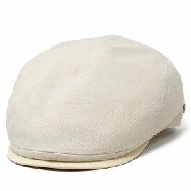 ハンチング メンズ 春夏 大きいサイズ 帽子 ブランド ミラショーン ハンチング帽 日本製 milaschon 紳士 無地 麻混生地 紳士帽子 S M L LL ベージュ [ ivy cap ] ギフト プレゼント 父の日 贈り物 ギフト包装