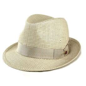 帽子 ハット メンズ /春夏帽子のボルサリーノ/大きいサイズあり/BL型 天然素材風帽子 Borsalino 中折れハット アイボリー