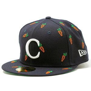 NEWERA 59FIFTY × CARROTS BY ANWAR CARROTS ニューエラ キャロッツ メンズ 帽子 にんじん ブランド キャップ 紺 ネイビー[ baseball cap ]ギフト プレゼント 誕生日 ラッピング 包装無料