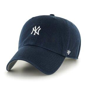 キャップ メンズ ブランド 47brand 帽子 クリーンナップ ニューヨークヤンキース ベースボールキャップ フォーティーセブン ブランド キャップ Yankees Baserunner '47 CLEAN UP Navy 紺 ネイビー 【 baseba