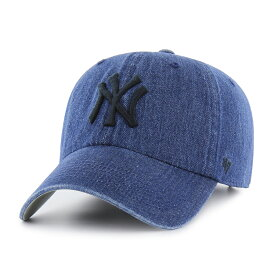 《10%OFFクーポン発行!! 96時間限定》 47brand クリーンナップ フォーティーセブン ニューヨークヤンキース 帽子 ブランド アメリカ キャップ メンズ Yankees Meadwood '47 CLEAN UP デニムキャップ ネイビー 【 baseball cap 】
