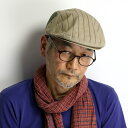 ハンチング ストライプ 春夏 メンズ ノックス 帽子 日本製 コットン100% knox ハンチング帽 紳士 カジュアル ウェザー バイオウォッシュ アイビーキ...