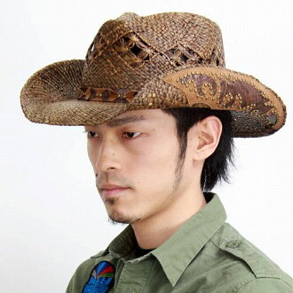 机织的牛仔帽的帽子男式女式和自然硬混合 / 种族彼得严峻 /pgd4028 Jarales 和布朗 (帽子店帽子)