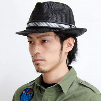 Mensfashionitem Hat / Hat tear drop Hat straw / poly Brad luster Hari / clean up outfit Stacy Adams / black (Cap and hat)