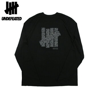 UNDEFEATED [undefeated, long sleeve T shirt DISRUPT 5 STRIKE LS TECH TEE - BLACK ★ genuine men's 2016 FALL autumn's Long Sleeve Tee