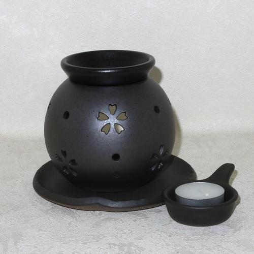 常滑焼 茶香炉 盛正窯 透かし桜 送料無料(北海道・沖縄は除く)