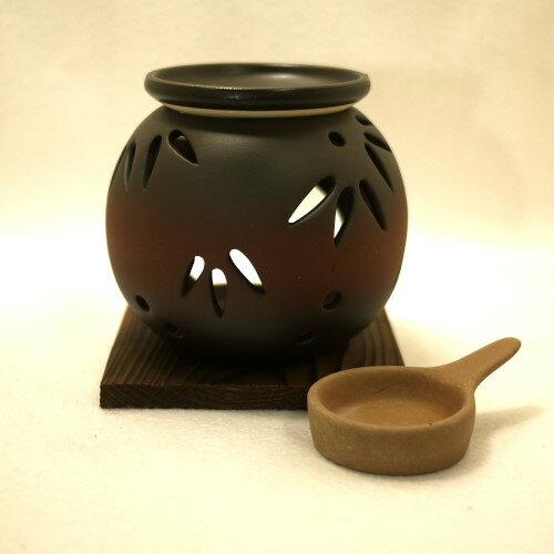 常滑焼 茶香炉 冨仙窯 透かし笹 日本製
