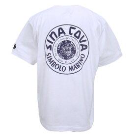 シナコバ 春夏 メンズ 定番バックプリント 丸首(クルーネック)半袖Tシャツ 【M】【L】【LL】 【ギフト包装無料】 SINA COVA ht10000540-10