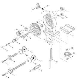 【部品】 ハンドルノブ固定ボルト (39650) パーツNo.7 [第一精工 高速リサイクラー2.0]