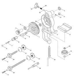【部品】 テンション調節銅柱 (39412) パーツNo.22 [第一精工 高速リサイクラー2.0]
