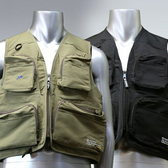 Fishing vest (black/khaki) X'SELL