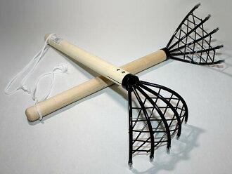 Ninja rake for clamming 2 pieces (mesh type clamming scoop)