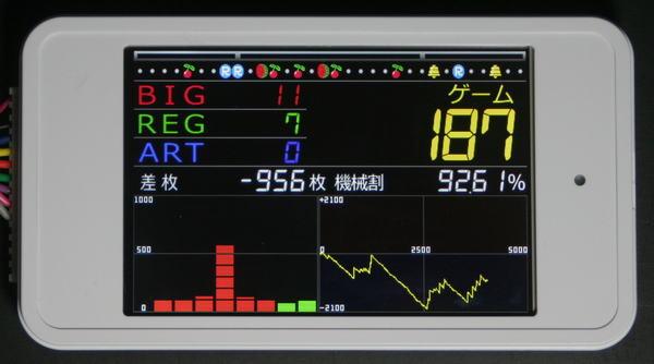 パチスロ実機用タッチパネル式IPS液晶データカウンター【メール便不可】