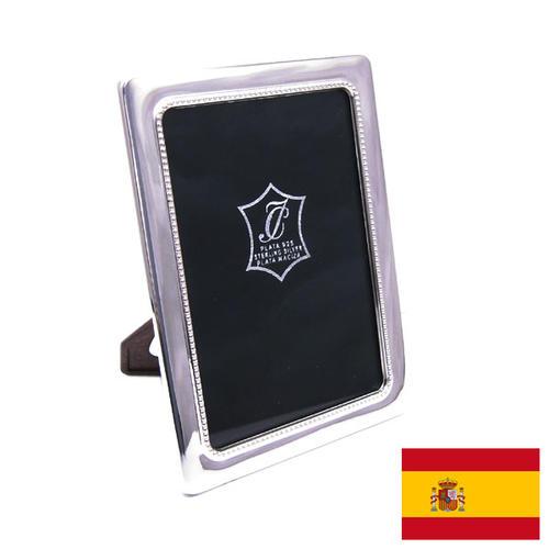 名入れ刻印シルバーフォトフレーム (刻印別料金) ドットパターン 窓サイズ8.5cm×12.5cm スペイン:イザベル社製
