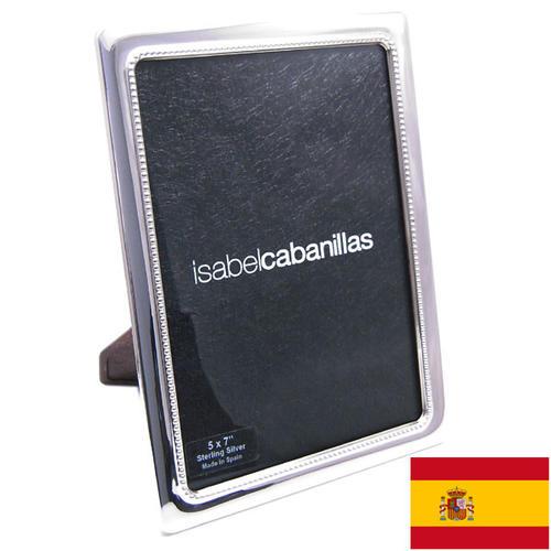 名入れ刻印シルバーフォトフレーム (刻印別料金) ドットパターン 窓サイズ12.5cm×17.5cm スペイン:イザベル社製