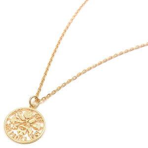 ネックレス ペンダント レディース 6ペンスコイン 透かし ゴールドカラー プレゼント ギフト 贈り物 還暦祝い