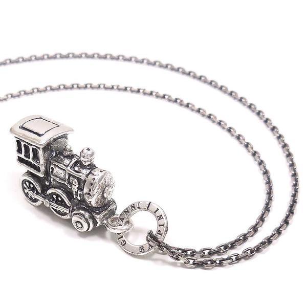 ネックレス ペンダント シルバー925 おもちゃ 機関車 いぶし銀 イタリア製