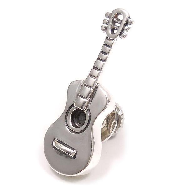 サツルノ ピンブローチ ラペルピン シルバー925 楽器 ギター SATURNO インポート