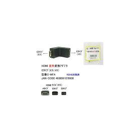 HDMI(C:オス⇔メス)直角変換アダプタ(DA-C-MFA)