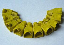 LANケーブル用ブーツ(RJ-45用/CAP付/黄/10個セット)(LC-BOOT-YE)