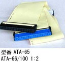 IDEフラットケーブル/ATA66/100用/80Pin/1:2/0.6m(PN-ATA-60)