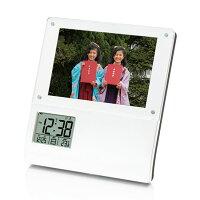 【時計アデッソ】フォトフレーム電波時計【K-864】プレゼントギフト時計とけいクロック祝新築記念誕生日置き時計贈り物