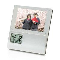 【時計アデッソ】レコーダーフォトフレームクロック【K-886】プレゼントギフト時計とけいクロック祝新築記念誕生日置き時計贈り物