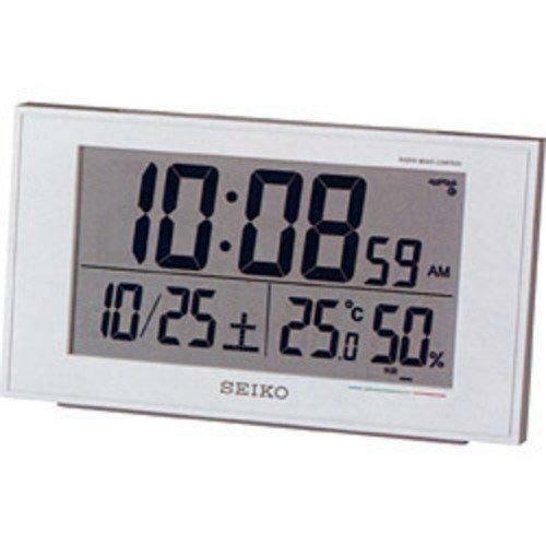 【SEIKO CLOCK セイコークロック】 目覚まし時計 温度表示 湿度表示 快適度表示 電波時計 置時計 置き時計 引越し祝い 新居祝い 一人暮らし プレゼント【SQ758W】
