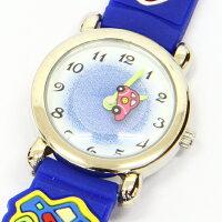 こどもウォッチ車【BAK-4065-BL】腕時計女の子男の子キッズジュニアおしゃれかわいいプレゼント子供贈り物ギフトウォッチ激安