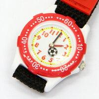 こどもウォッチサッカー【BAK-4068-RD】腕時計女の子男の子おしゃれかわいいプレゼント子供キッズジュニア贈り物ギフトウォッチ激安