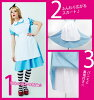 Wonderland Alice dress Alice costume cosplay costume fancy dress Halloween party wedding parties entertainment party new year's program welcome party Dancewear