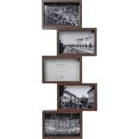 【フォトフレーム壁掛け】VERDI5ベルディ5【BEECH/WALNUT】写真壁掛けスタンドフレーム飾りインテリア小物フィギュアボックスMDF5段おしゃれ