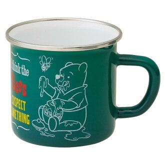 Enamel mug cup vintage Pooh 380 ml tumbler thermal insulation cold-storage insulation enamel Father's Day Christmas present gift glass character
