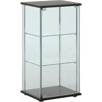 【インテリアガラスケース】ガラスコレクションケース3段ブラウン【96049】フィギュアコレクションディスプレイラック展示不二貿易