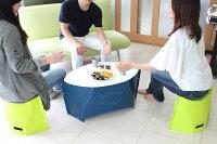 【折りたたみテーブル】PATATTOTABLE(パタットテーブル)【ネイビー×ペールホワイト/ペールホワイト×ペールホワイト】