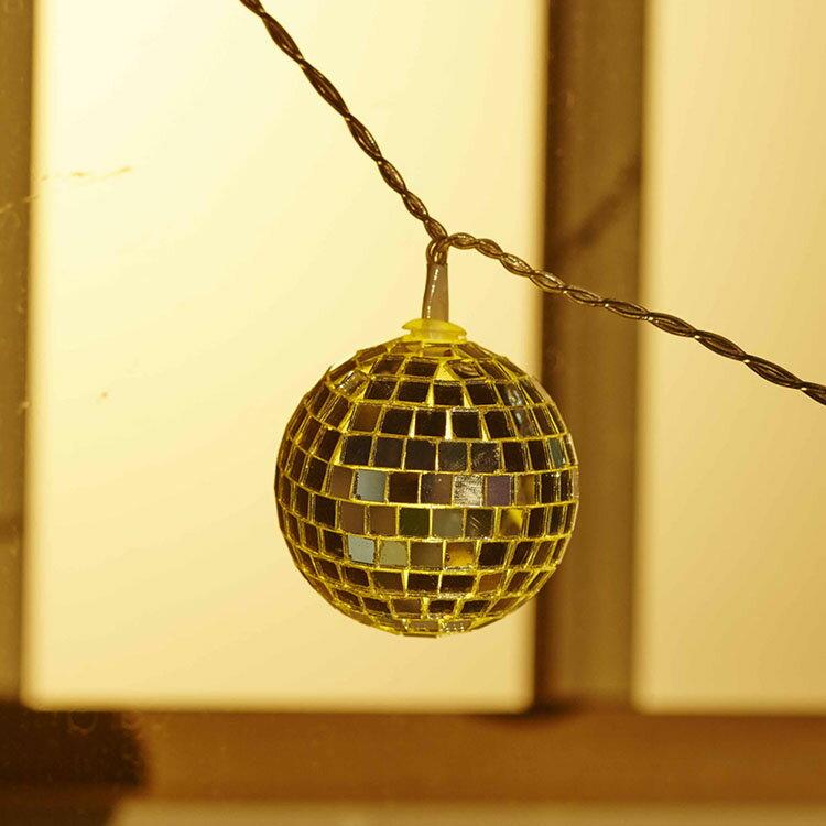 【セール価格】【ハロウィン 小物】 ミラーボール 10球 【HLB-B10GDC】 小物 飾り 装飾 ハロウィーン ガーランド イルミネーション パーティー クリスマス イベント 結婚式 出し物