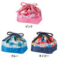 キャンディポップランチ巾着【ピンク/ブルー/ネイビー/T-76377/T-76378/T-76379】