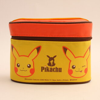 Lunch box character Pikachu with thermal insulation jar with super lightweight compact fork case does it; chopsticks thermal insulation jar lunch lunch primary schoolchild child kids holiday making excursion athletic meet