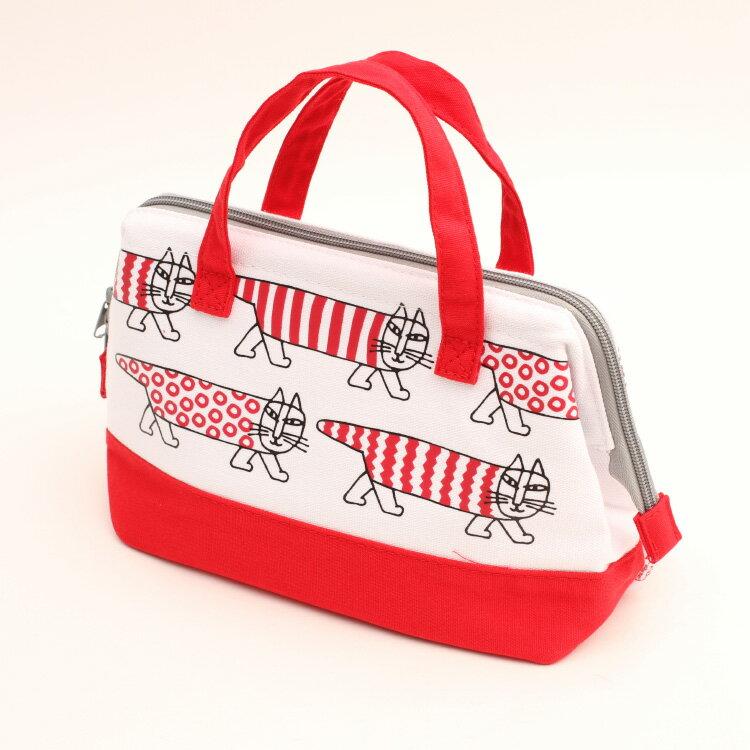 【保冷バッグ リサラーソン がま口バッグ マイキー】 帆布地保冷がま口バッグ 【KGAF1】 キャラクター リサラーソン マイキー バッグ 保冷 ショッピング 買い物 お弁当 ランチ ピクニック
