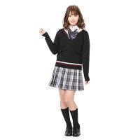 【高校制服セーター】TE-18SSVネックセーターラインブラック【Mサイズ/Lサイズ】通学学校コスプレコスチューム学生服女子高生高校生コスプレ衣装仮装teensever