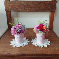 【プリザーブドフラワークレール】ピンク/レッド/オレンジ花花束ギフト母の日バラプレゼント