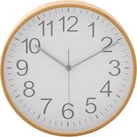 プライウッド掛時計Φ28cm【ナチュラルブラウン85366/ブラウン85367/ホワイト85368/ネイビー85369】