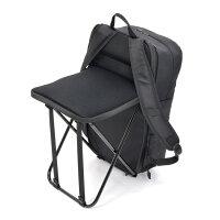 【リュック折り畳み椅子】ぱっと変身!どこでも座れるリュックtall【BKPKCH03】【送料無料たためるシンプルおでかけ便利グッズいすイス座りやすい持ち運びアウトドアハイキングレジャーチェアフェスBBQ登山プレゼントギフト携帯軽い折りたたみ椅子